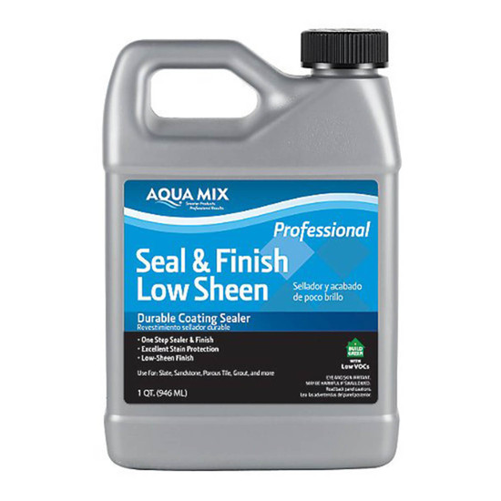Aqua Mix Seal & Finish Low Sheen Durable Coating Sealer - 1 Qt.