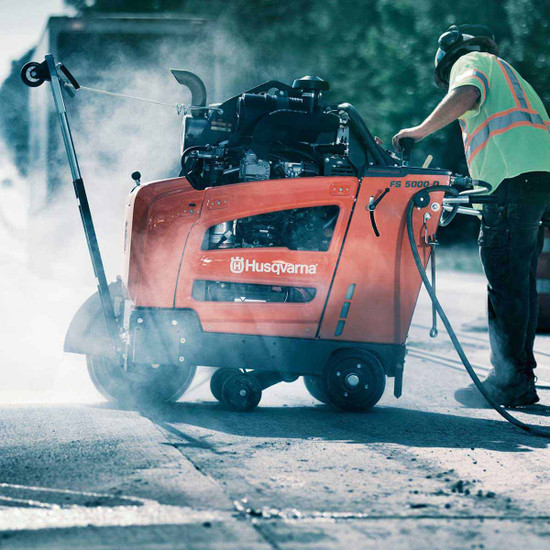 Husqvarna 5000 D Flat Saw for Highway Work