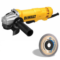 Dewalt DWE402N Angle Grinder with CTX115 Diamond Blade