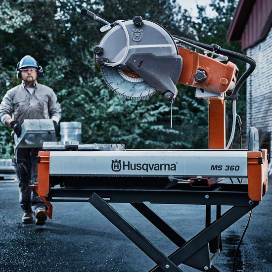 Husqvarna MS 360 jobsite brick and block cutting electric motor