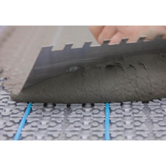 Applying Tile Thin Set on Flexbone Heat Membrane