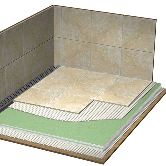 Laticrete Full Hydro Ban Linear Shower Pan Installation