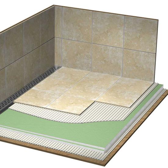 Laticrete Full Hydro Ban Linear Shower Pan Installation