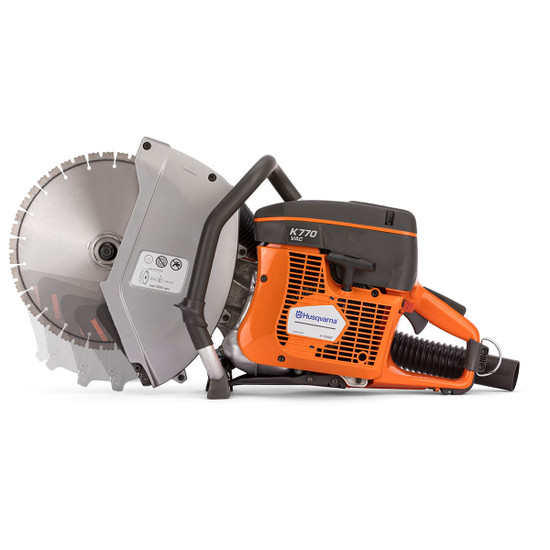 Husqvarna K770 VAC with Blade Guard Protection