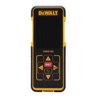 DW0165 DeWalt Laser Distance Measurer Large color screen, class 2 laser
