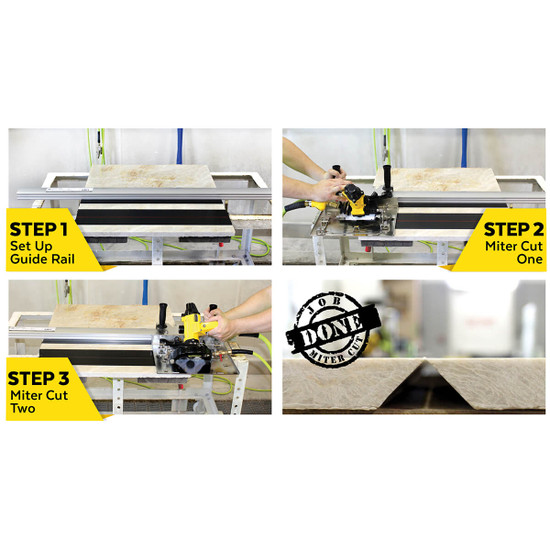Steps for setting up Alpha Tools Miter Cutting Kit