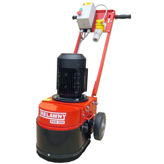 trelawny tcg250 heavy duty single head grinder for leveling and preparation of small to medium areas