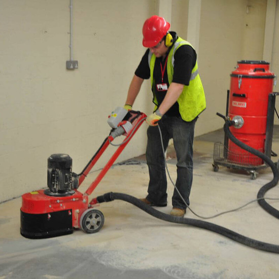 Trelawny Floor Grinder flexible grinding head ensures maximum contact and usage of the diamond while working over rough surfaces