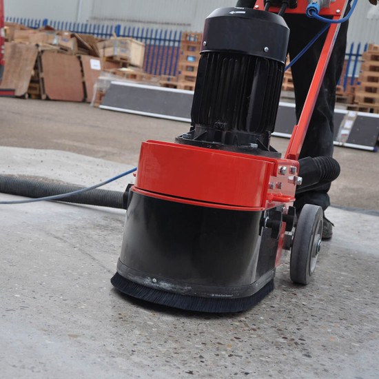 """trelawny TCG250 10"""" floor grinder heavy weight construction but compact for excellent performance with easy maneuverability Equipped with 2"""" vacuum port"""