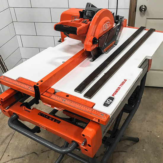 Cutting Large Format Tile with iQTS244 Tile Saw Table Extension