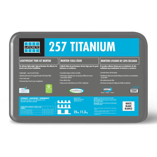 Laticrete 257 Titanium Grey Thin-Set Mortar 25 lbs. Bags