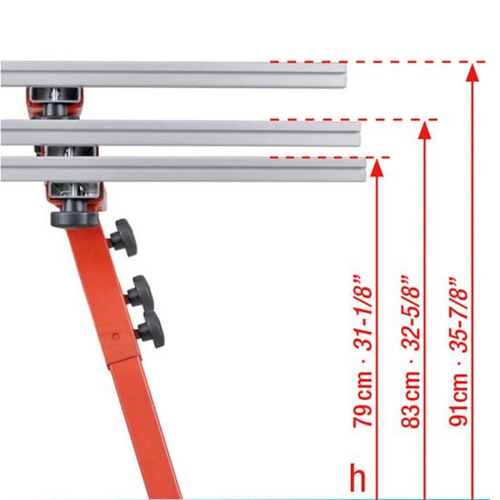Montolit Large Format Tile Slab Work Bench Each leg can be adjusted for an ideal working level