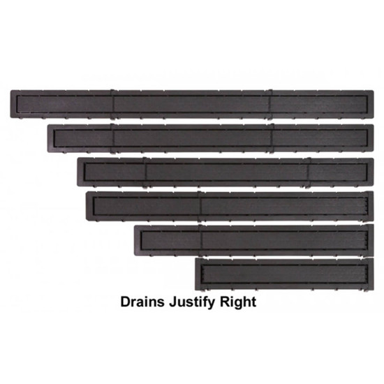 Goof Proof RIght Offset Linear Drain