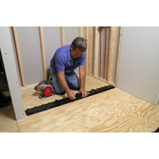 Measuring the Linear Drain for Shower Pan Installation