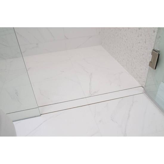 Installed Tile On Linear Shower Drain