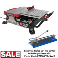 Porter Cable 7 inch Wet Tile Saw with Tile Cutter Special