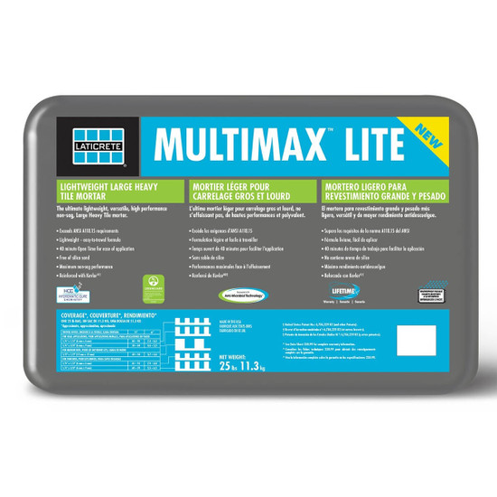 Laticrete MultiMax Lite Grey Mortar