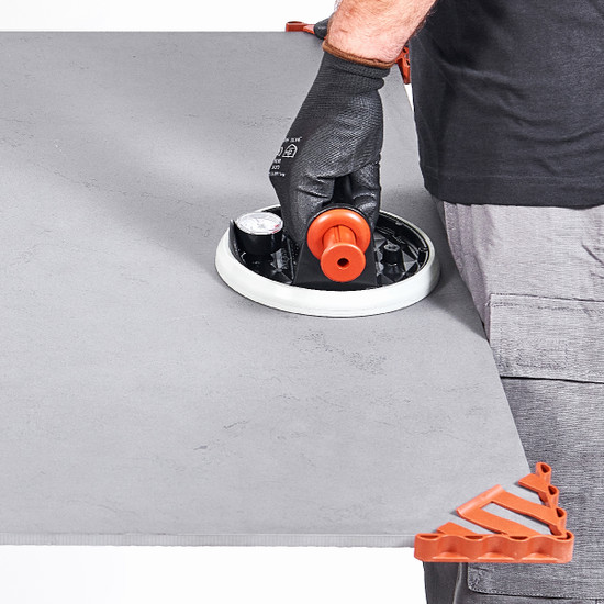 Raimondi Corner Protectors for handling large format tile safely without damage to corners