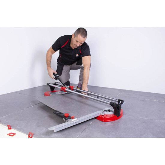 Laying Porcelain Floor Tile Cut with Rubi TX-1020 MAX
