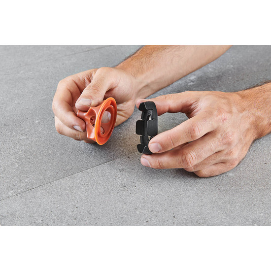 Re-usable Vite Leveling System Cap and Protective Ring