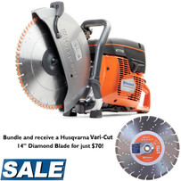 Husqvarna K770 Power Cutter with Vari-Cut Diamond Blade
