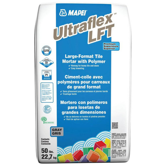 Mapei UltraFlex LFT Gray Large and Heavy Tile Mortar