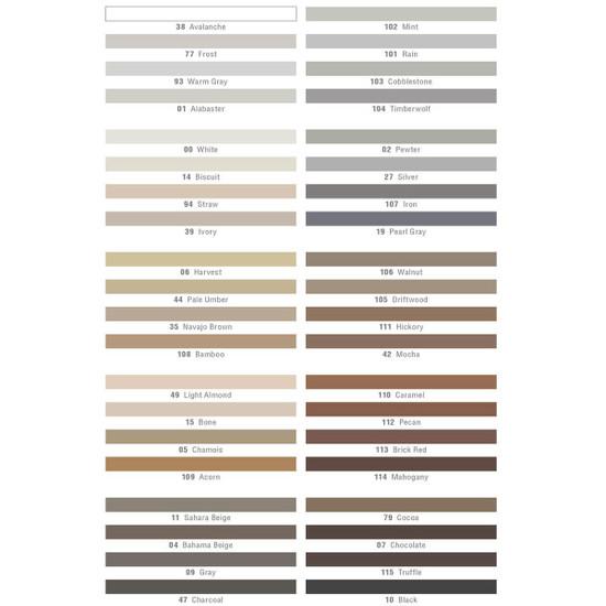 Mapei Mapesil T Silicone Sealant Color Selection
