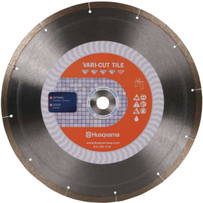 Husqvarna Vari-Cut wet Porcelain Diamond Tile Blade