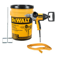 "Dewalt DW130VBKT 1/2"" Mixing Drill Kit with Paddle, Bucket and Extension Cord"