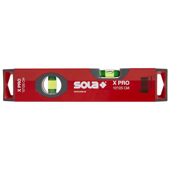 SOLA X PRO 10 inch Aluminum Box Profile Spirit Level