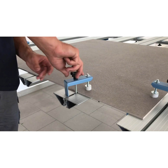 Clamping Thin Panel Tile on Sigma Work Table