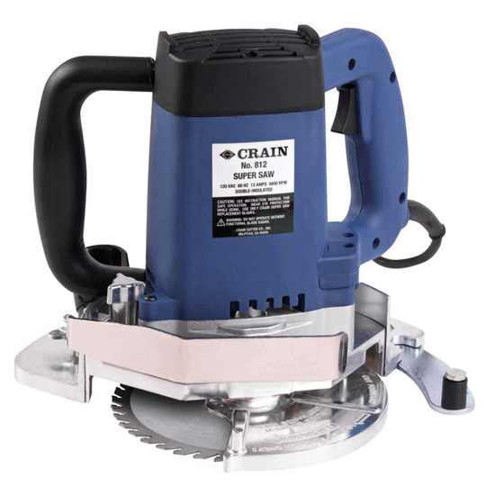 812 Crain Super Saw Kit Cuts flush to floor to underlay vinyl along walls, Fully undercuts inside corner with Dust Control