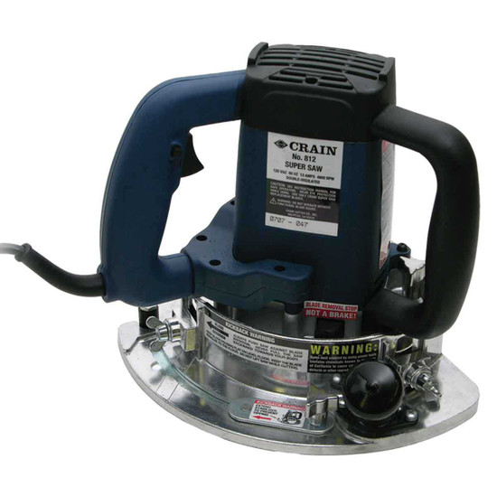 812 Crain Super Saw Kit 13 Amp motor and 6 1/2 in. diameter flush-cutting blade can fully undercut the inside corner even in extremely tight areas, 1-1/2 in. vacuum port