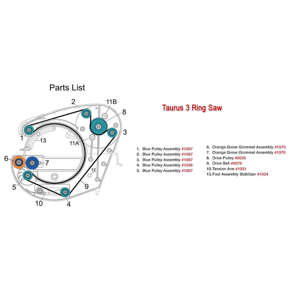Gemini Taurus 3 spare parts list