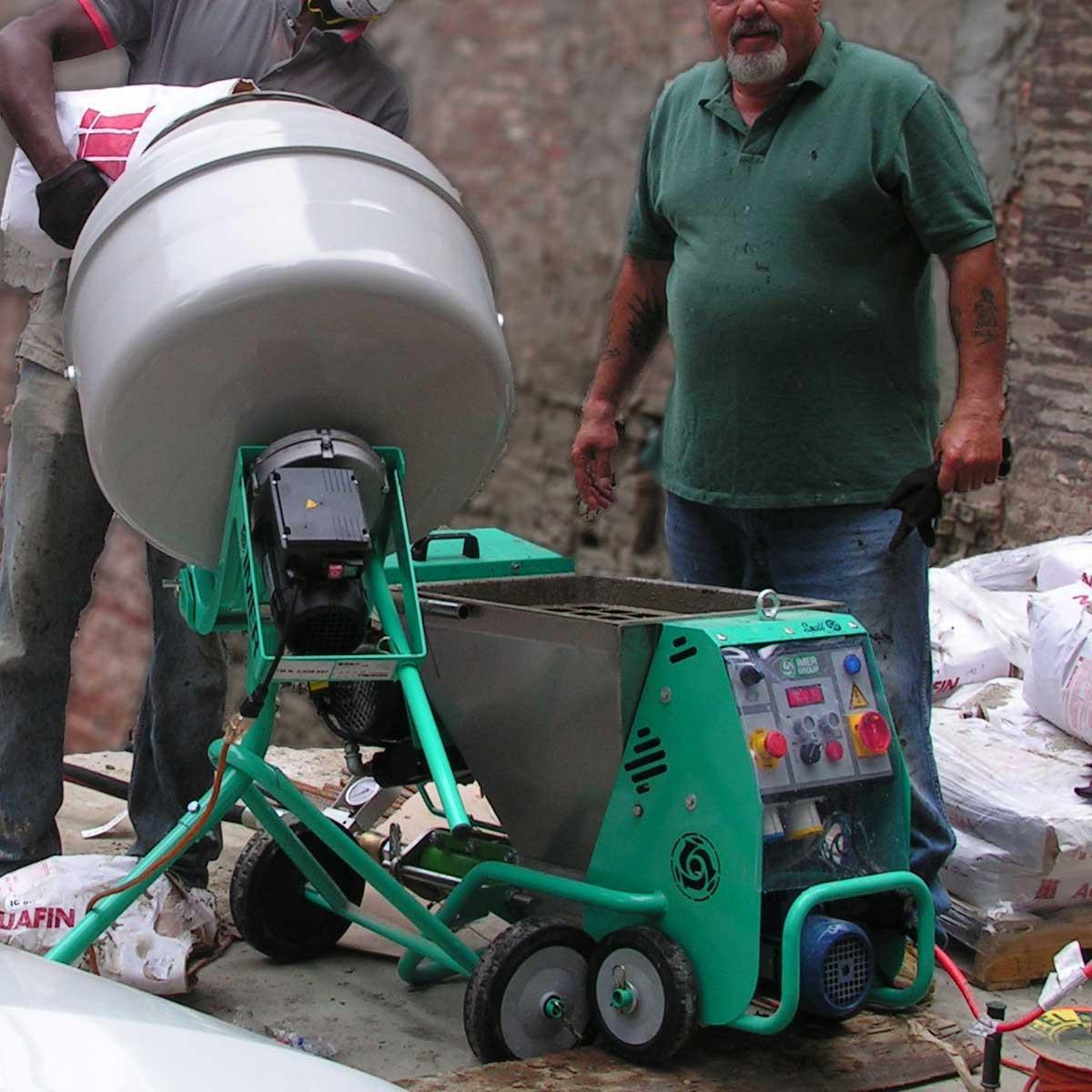 Imer Minuteman concrete mixer fill