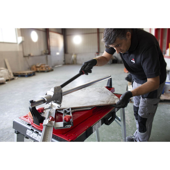 Cutting Large Porcelain Tile with Rubi TQ-66 Tile Cutter