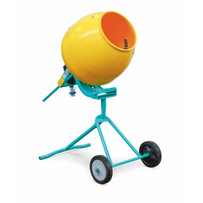 1126632 Imer Minuteman Portable Electric Concrete Mixer Poly Drum