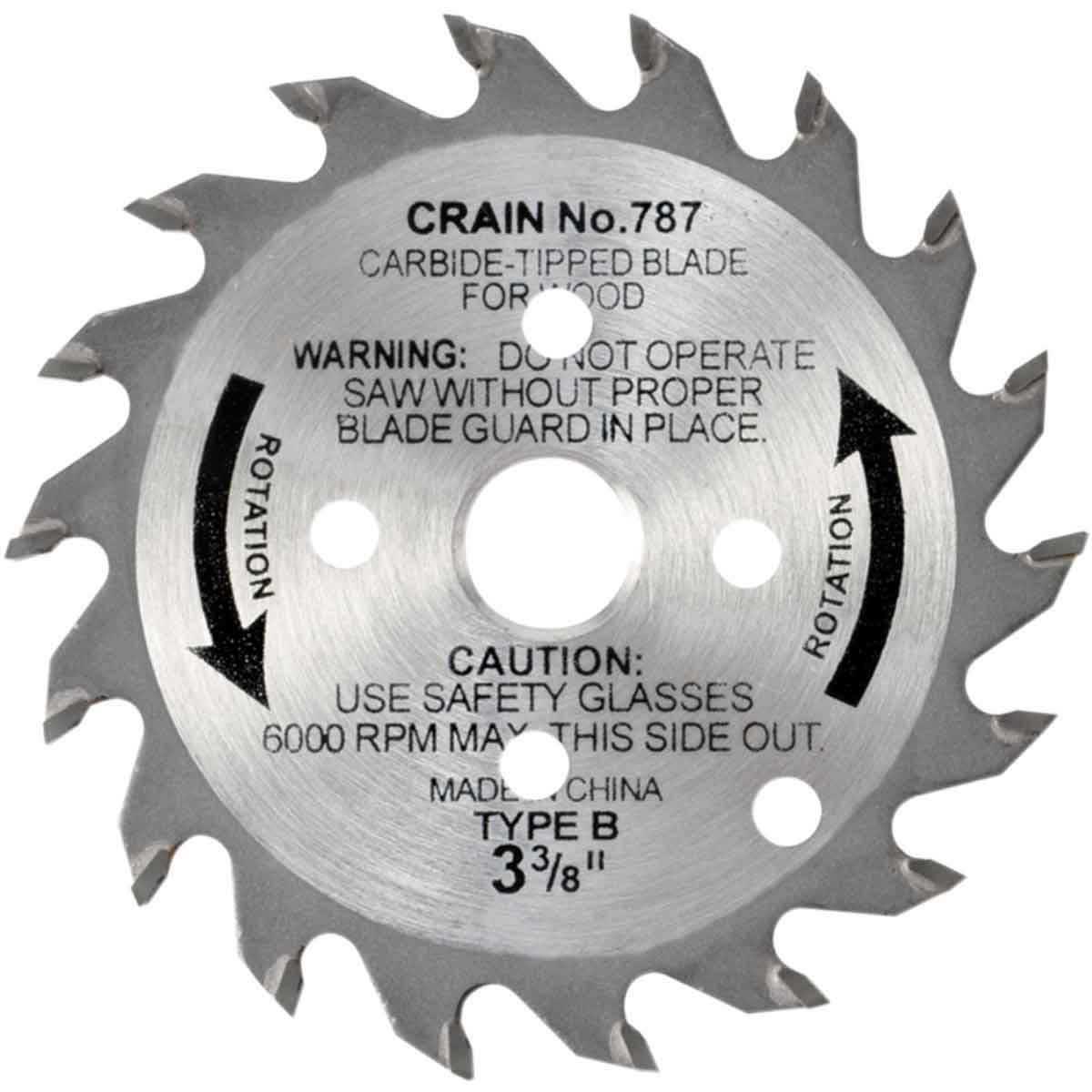787 crain carbide tipped blade