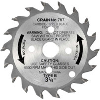 Crain 787 3-3/8 in. Carbide Tipped Replacement Blade for the 775 Crain Toe-Kick saw