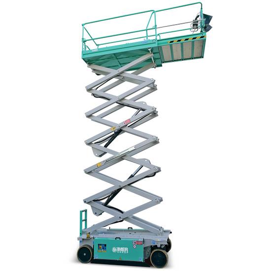 Imer IM 4752 Electric Scissor Aerial Lift platform and scissor extended