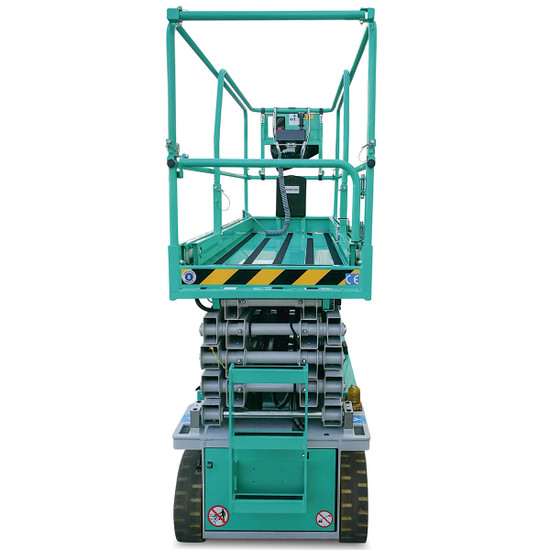 Imer IM 47 Electric Scissor Aerial Lift with negative electromagnetic parking brakes with electric disengagement