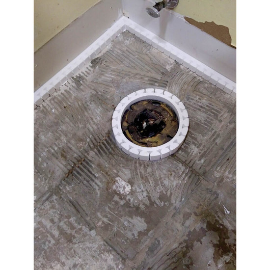 Surrounding Toilet Flange for Pouring Self Leveling Concrete