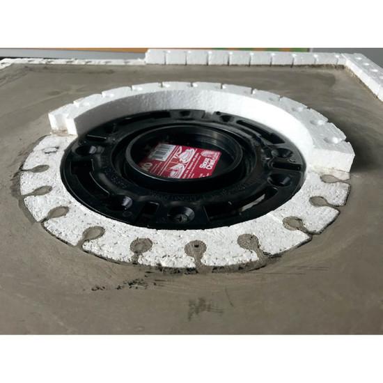 ToiletBan Perimeter Ring Cut to Concrete Level