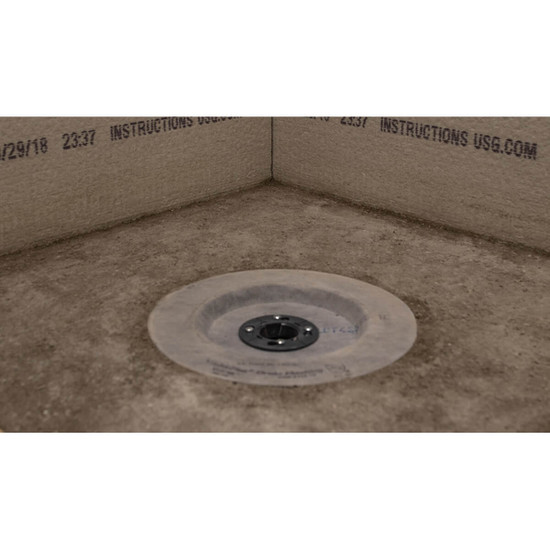 Screed Mud Pan with Noble SD Drain Flashing