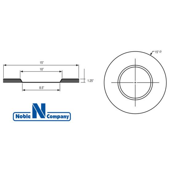 NobleFlex SD Drain Flashing Dimensions