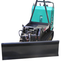 Plow attachment imer carry 107 for snow removal and spread around the gravel hauled and dumped into a small backyard