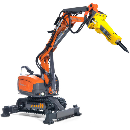 Husqvarna DXR 250 Demolition Robot with Breaker SB 202 Attachment