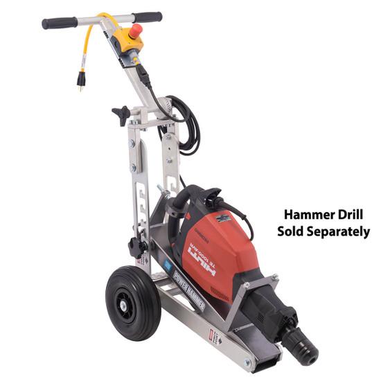 Power Hammer Trolley with Hilti TE1000 Demolition Hammer