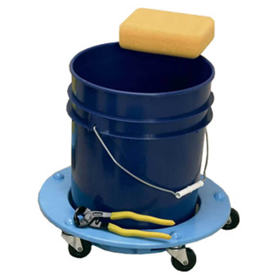 5 heavy duty casters for easily moving and turning heavy 5 gallon buckets, The bucket dolly has a reinforced design, molded from plastic