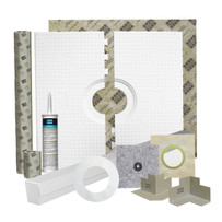 Laticrete Hydro Ban Pre-Sloped Shower Installation Kit Components